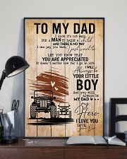 To My Dad Poster 11x17 Poster lifestyle-poster-2