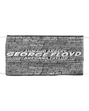 George Floyd Face Mask Cloth face mask front