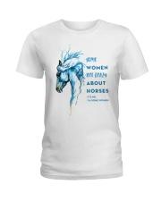 Crazy About Horses Ladies T-Shirt front