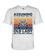 Old Lady Jp V-Neck T-Shirt thumbnail