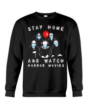 Stay Home - Watch Horror Movies Crewneck Sweatshirt thumbnail