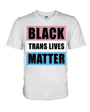 Black Trans Lives Matter  V-Neck T-Shirt thumbnail