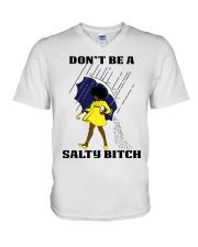 Don't Be A Salty Black Girl V-Neck T-Shirt thumbnail