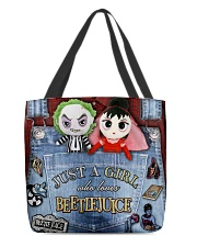 Beetlejuice Overalls All-over Tote back
