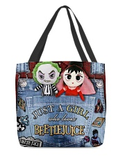 Beetlejuice Overalls All-over Tote front