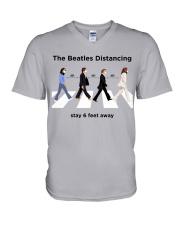 The Beatles Distancing V-Neck T-Shirt thumbnail