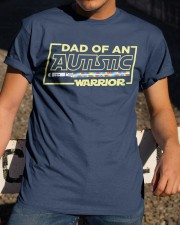 Dad Of An Autistic Warrior Classic T-Shirt apparel-classic-tshirt-lifestyle-28