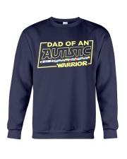 Dad Of An Autistic Warrior Crewneck Sweatshirt thumbnail