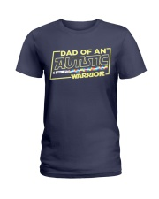 Dad Of An Autistic Warrior Ladies T-Shirt thumbnail