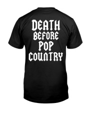 Death Before Pop Country Classic T-Shirt back