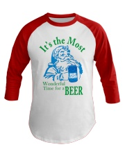 Wonderful Time For A Beer Baseball Tee front