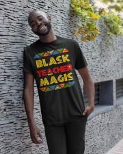 Black Teacher Magic Classic T-Shirt apparel-classic-tshirt-lifestyle-front-33