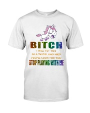 Unicorn Stop Playing With Me Classic T-Shirt thumbnail