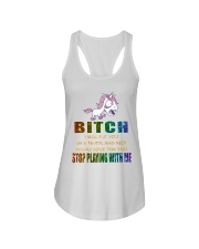 Unicorn Stop Playing With Me Ladies Flowy Tank thumbnail
