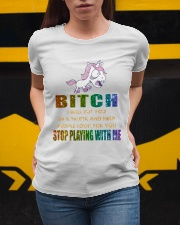 Unicorn Stop Playing With Me Ladies T-Shirt apparel-ladies-t-shirt-lifestyle-04