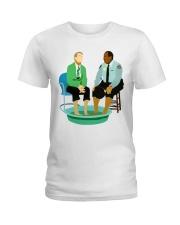 Mr Rogers Neighborhood Being Black Ladies T-Shirt tile