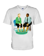 Mr Rogers Neighborhood Being Black V-Neck T-Shirt tile