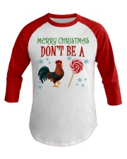 Merry Xmas Chicken Baseball Tee front