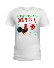 Merry Xmas Chicken Ladies T-Shirt tile