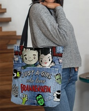 Just A Girl Who Loves Frankenstein Tote All-over Tote aos-all-over-tote-lifestyle-front-09
