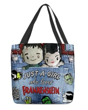 Just A Girl Who Loves Frankenstein Tote All-over Tote back
