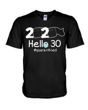 Hello 30 Quarantine V-Neck T-Shirt thumbnail