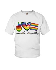 Peace Love Equality Youth T-Shirt thumbnail