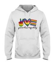 Peace Love Equality Hooded Sweatshirt thumbnail