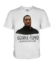 Justice For Floyd V-Neck T-Shirt thumbnail