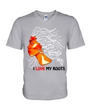I Love My Roots V-Neck T-Shirt thumbnail