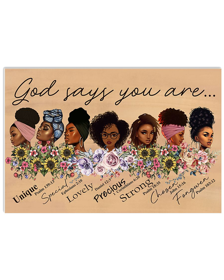 God Says You Are Poster 17x11 Poster