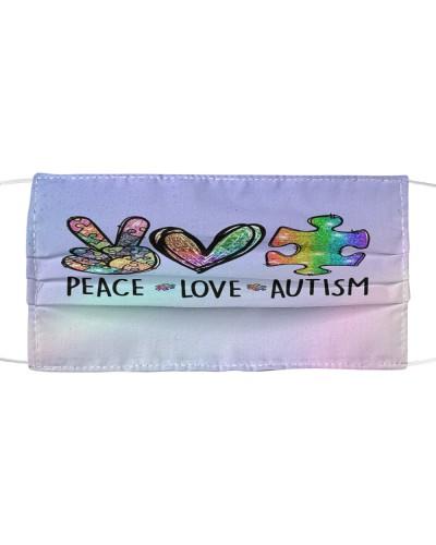 Peace Love Autism Face Mask