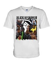 Black Lives Matter Hero V-Neck T-Shirt tile