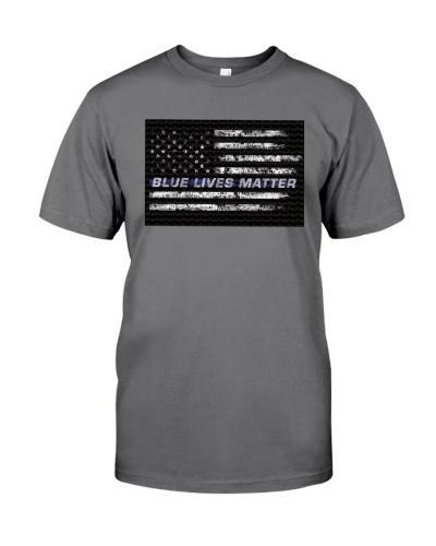 Blue Lives Matter Athletic Shirt