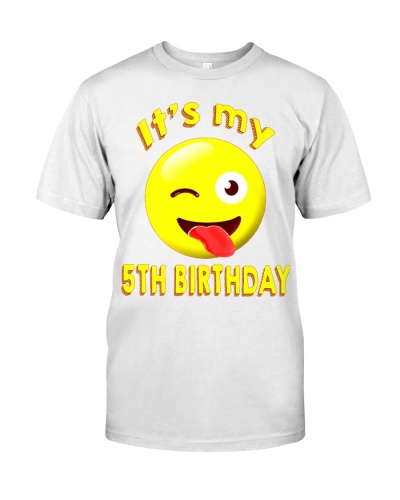 5th birthday emoji Its my 5th birthday