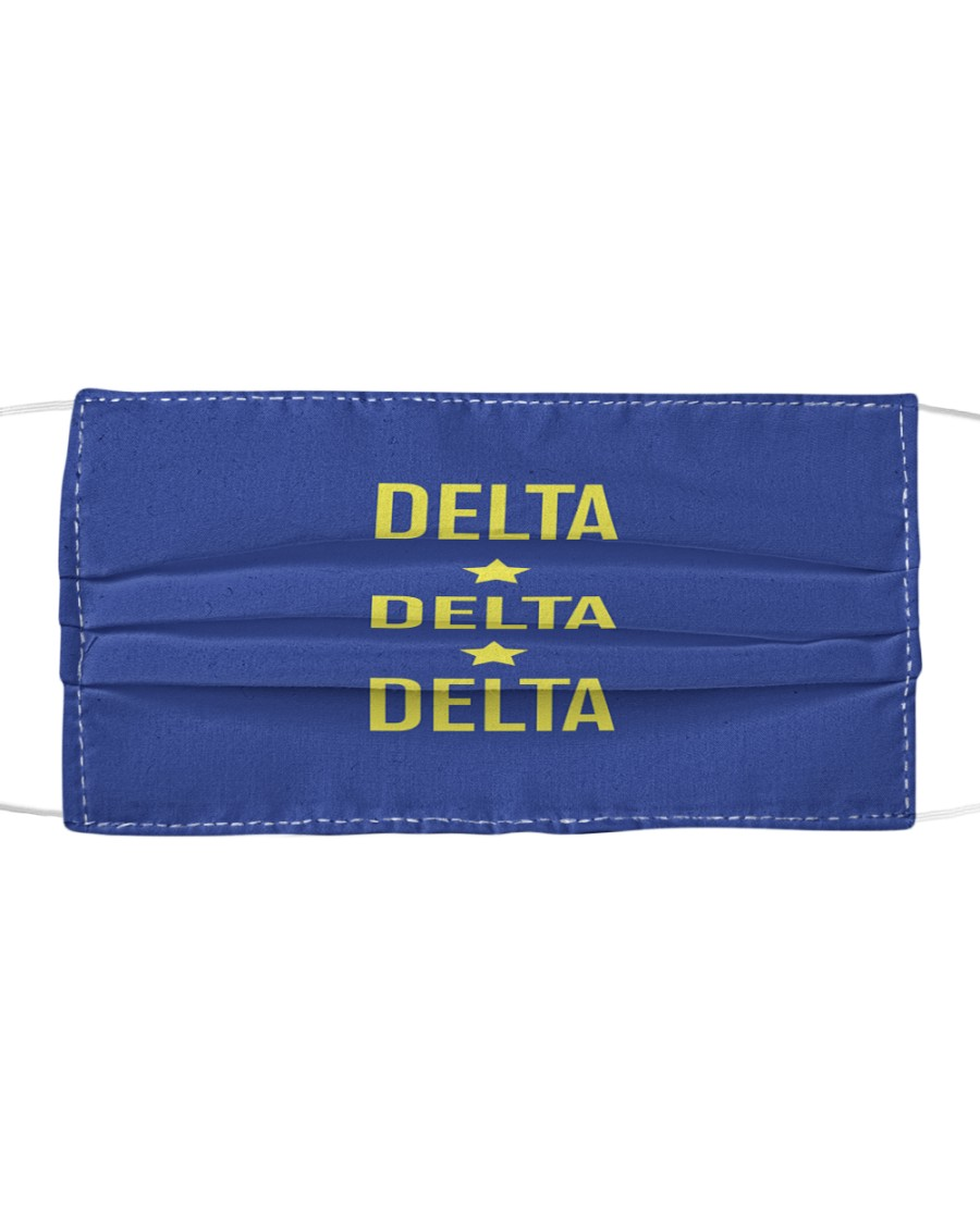 Tri Delta Star Mask Cloth face mask