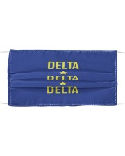 Tri Delta Star Mask Cloth face mask front