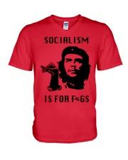 socialism is for figs shirt V-Neck T-Shirt thumbnail