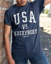 usa vs everybody shirt Classic T-Shirt apparel-classic-tshirt-lifestyle-27