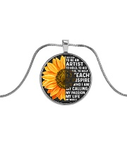 i was born to be an Artist Metallic Circle Necklace front