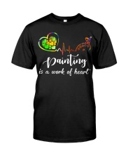Painting is a work of heart Classic T-Shirt thumbnail