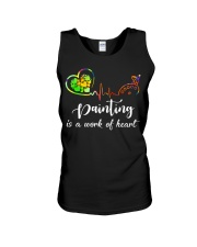 Painting is a work of heart Unisex Tank thumbnail