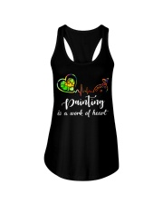 Painting is a work of heart Ladies Flowy Tank thumbnail