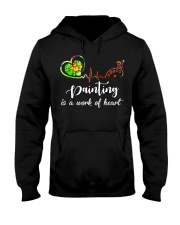 Painting is a work of heart Hooded Sweatshirt thumbnail