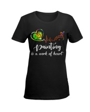 Painting is a work of heart Ladies T-Shirt women-premium-crewneck-shirt-front