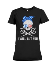 I will cut you Premium Fit Ladies Tee thumbnail