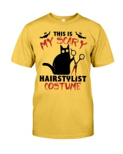 My scary hairstylist costume Classic T-Shirt front