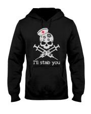 I'll stab you Hooded Sweatshirt thumbnail