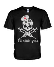 I'll stab you V-Neck T-Shirt thumbnail