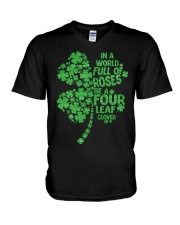 Be a Four Leaf Clover V-Neck T-Shirt thumbnail